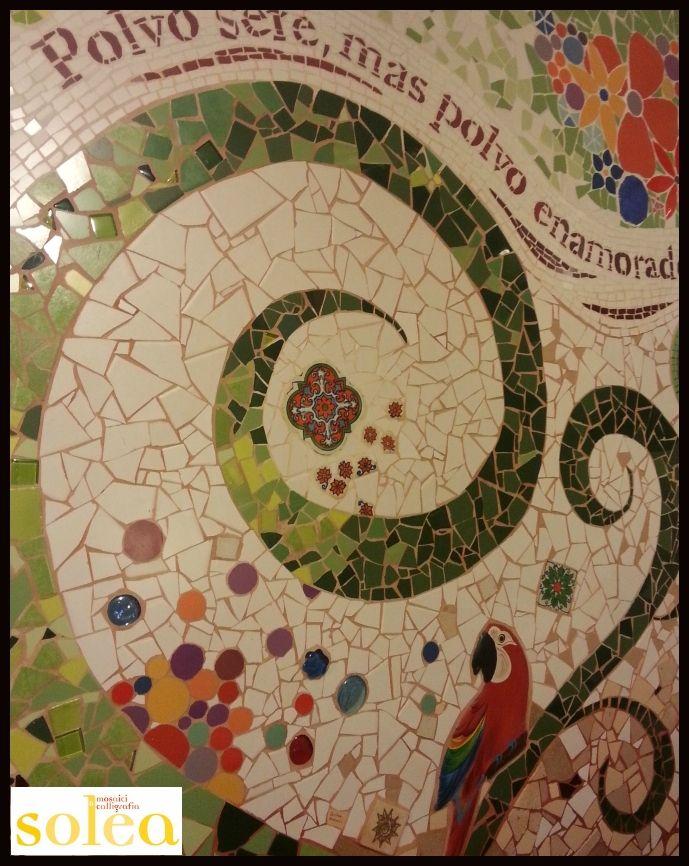 Mosaico a parete wall mosaic mosaicos pinterest for Parete a mosaico