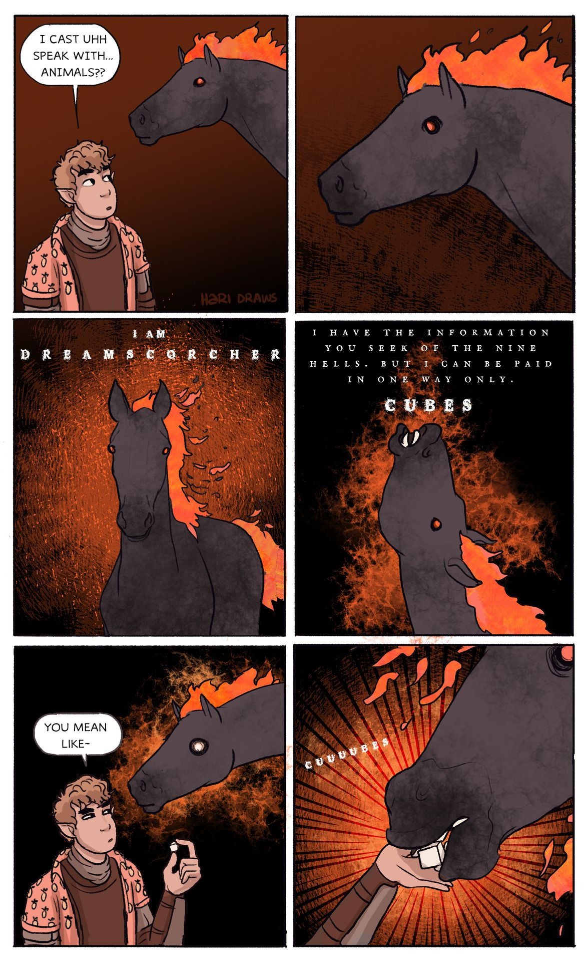 d&d adventures: we stole a nightmare horse from a... - Hari Conner illustration