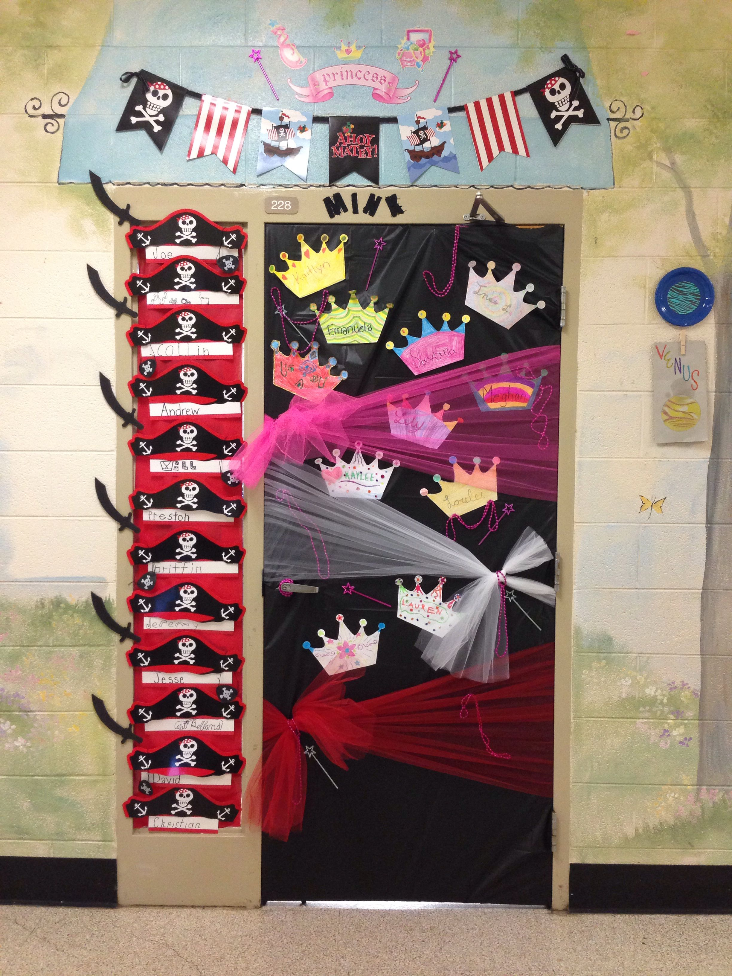 Princess And Pirate Theme Classroom Door For Mrs Mink