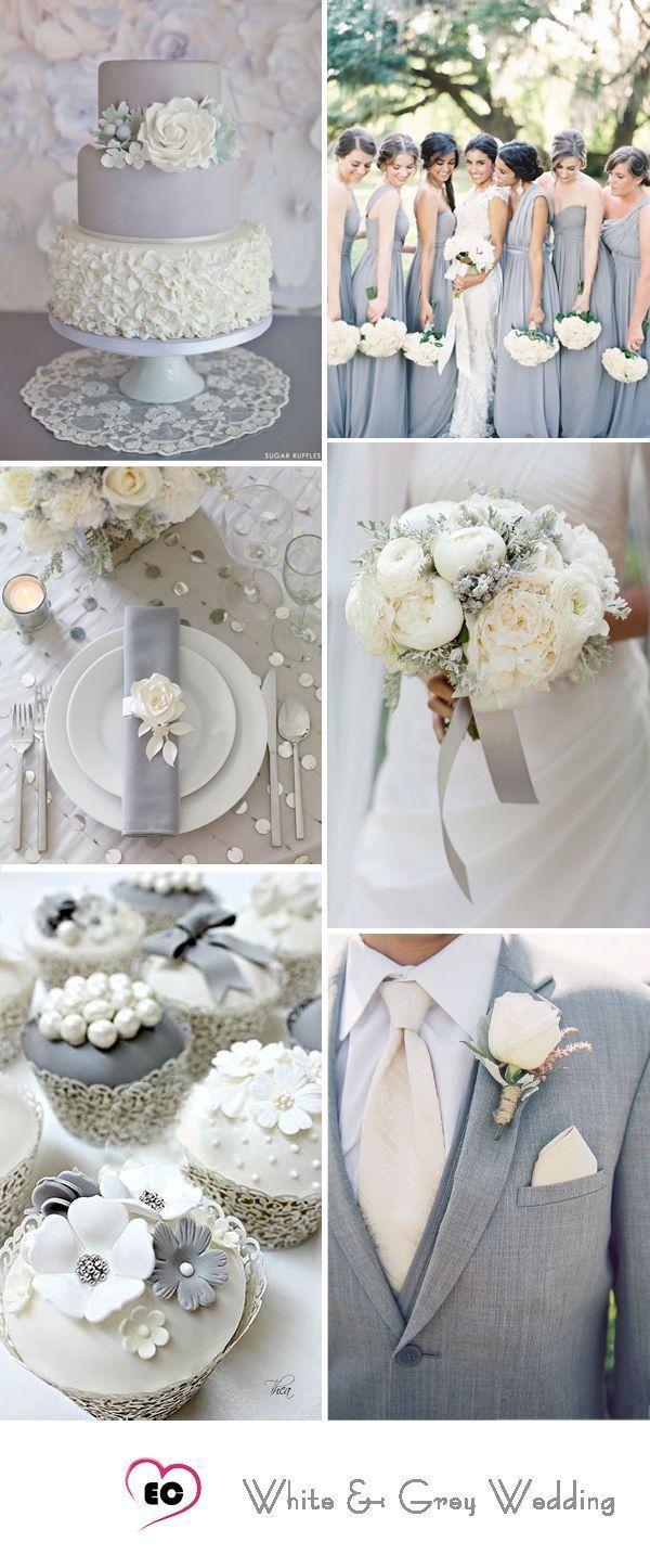7 Grey Color Palette Wedding Ideas & Inspirations | Pinterest | Grey ...