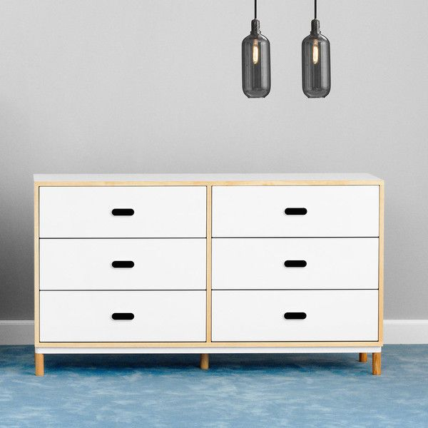 Normann Copenhagen Kabino Dresser With 6 Drawers  White $1235 Cool White Bedroom Dresser Inspiration Design