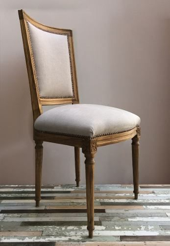 Silla Francesa De Estilo Luis Xvi Tallada Tapizada | tapizado sillas ...