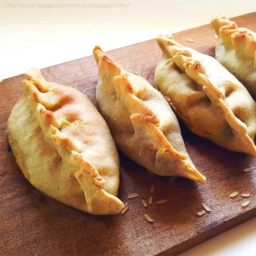 Como Hacer Masa Empanadas Con Arroz Cocido Sin Gluten Recetas De Comida Fáciles Empanadas De Harina Arroz Con Coco