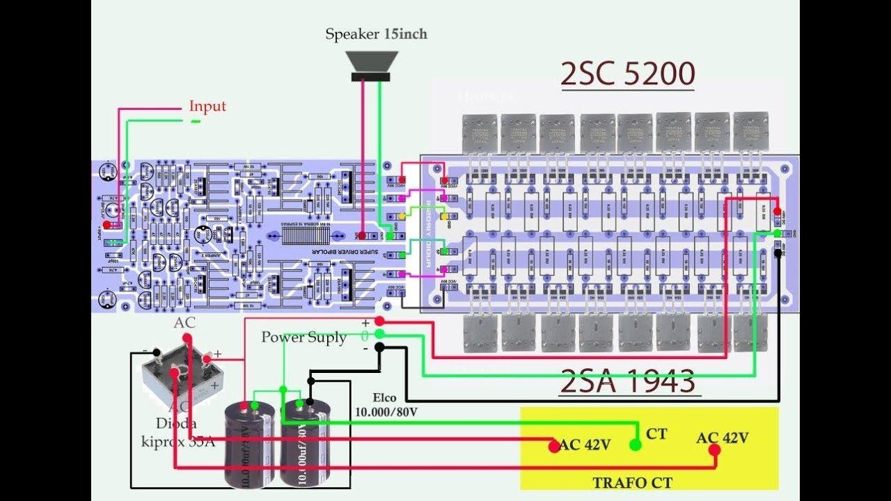Amplifier Yiroshi Cara Menggabungkan Driver Ke Transistor Final 40w Circuit Schematic Diagram Audio