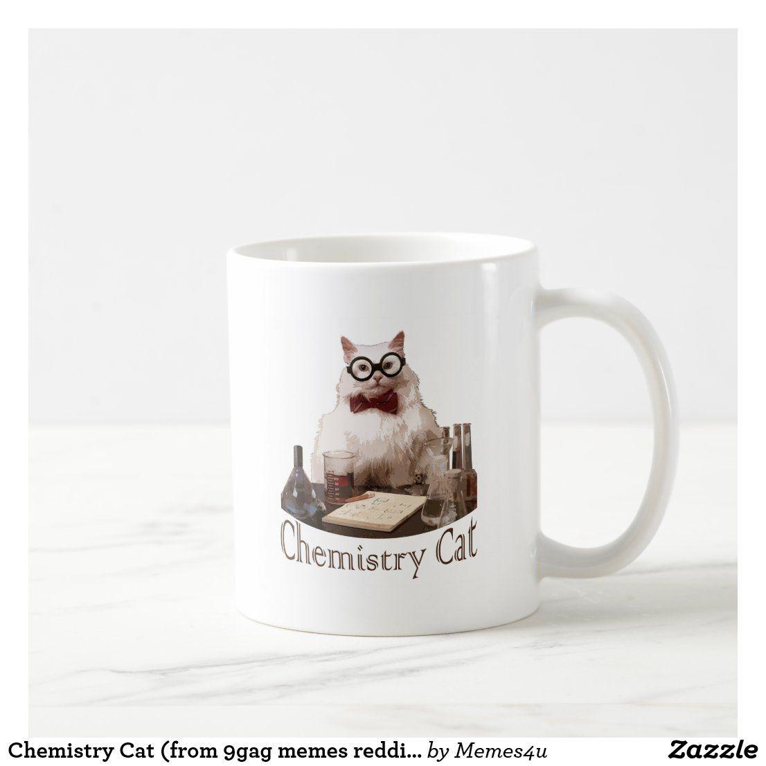 Chemistry cat from 9gag memes reddit coffee mug zazzle
