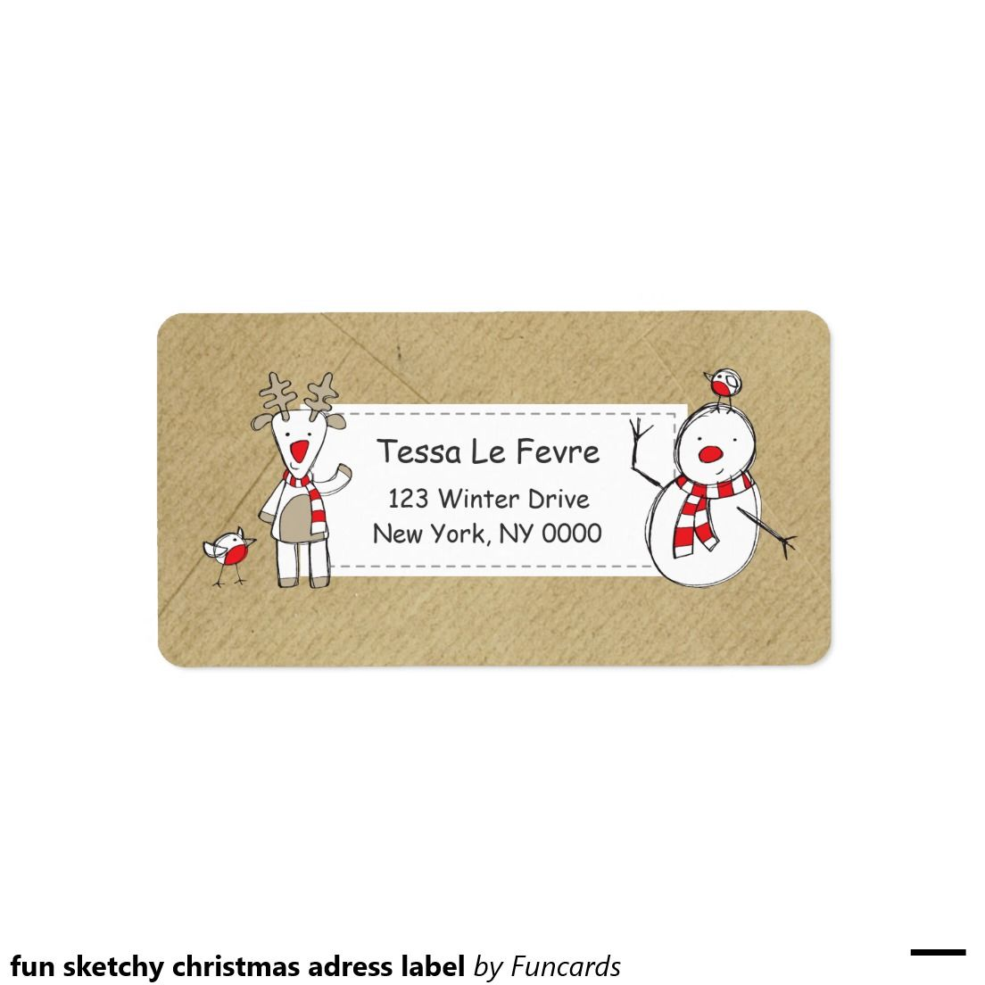 fun sketchy christmas adress label address label
