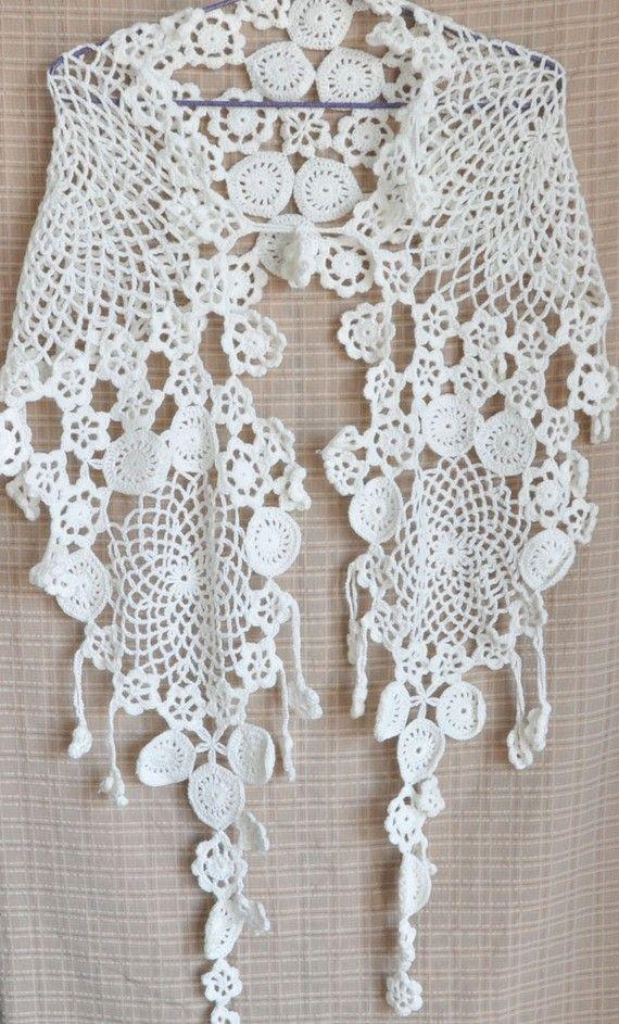 Xale em crochê irlandês | Crochet da Zeti | Pinterest | Chal, Croché ...