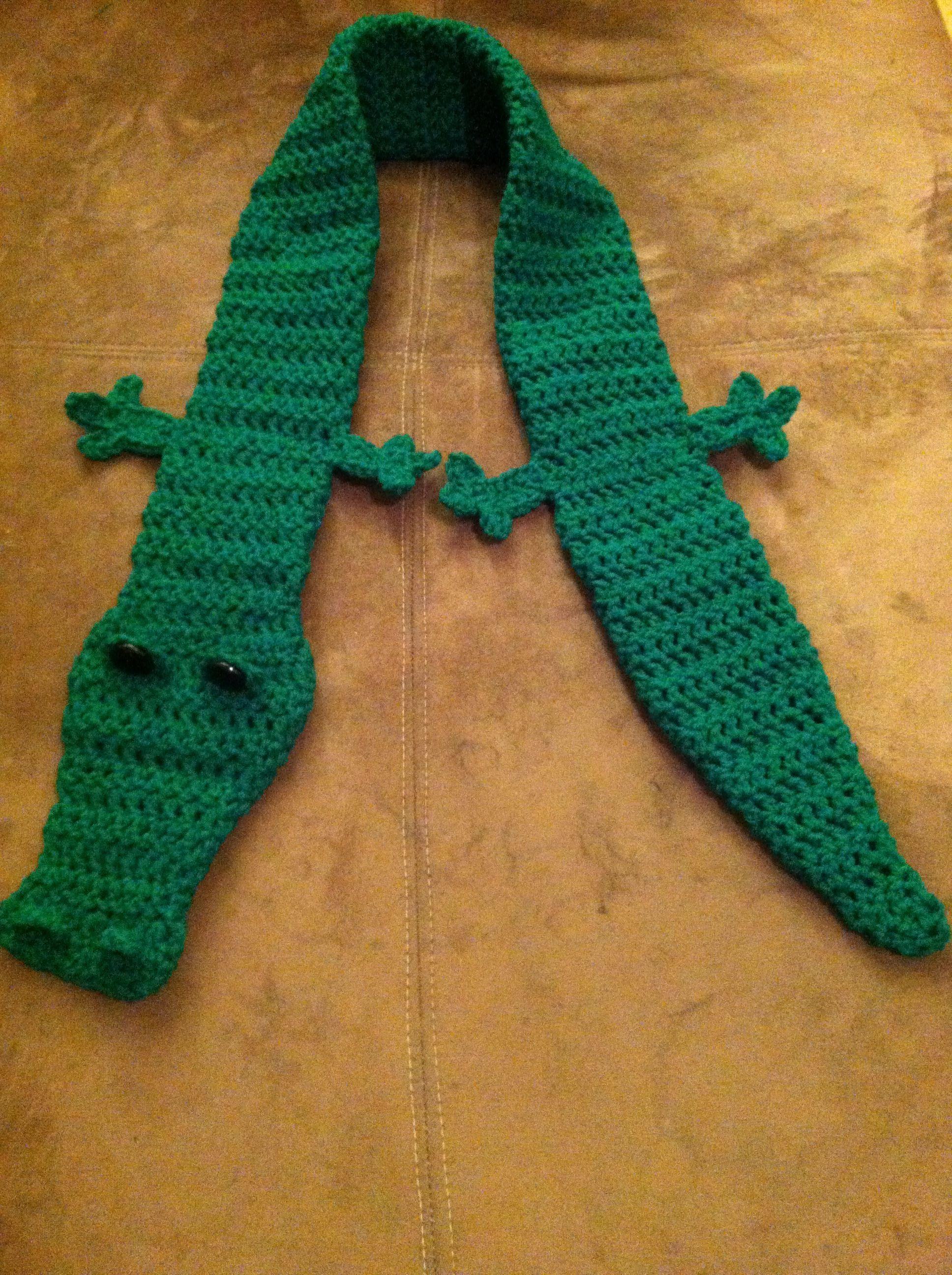 Crocheted Alligator Scarf Crochet Alligatorscarf Darnyarn