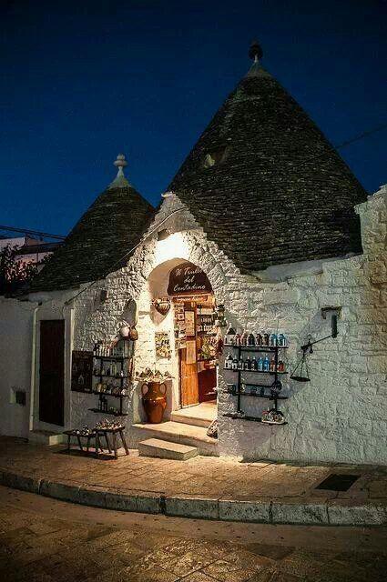 Night in Alberobello
