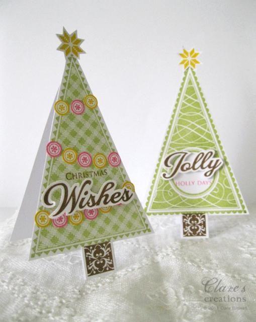 Vintage Banner Christmas Trees