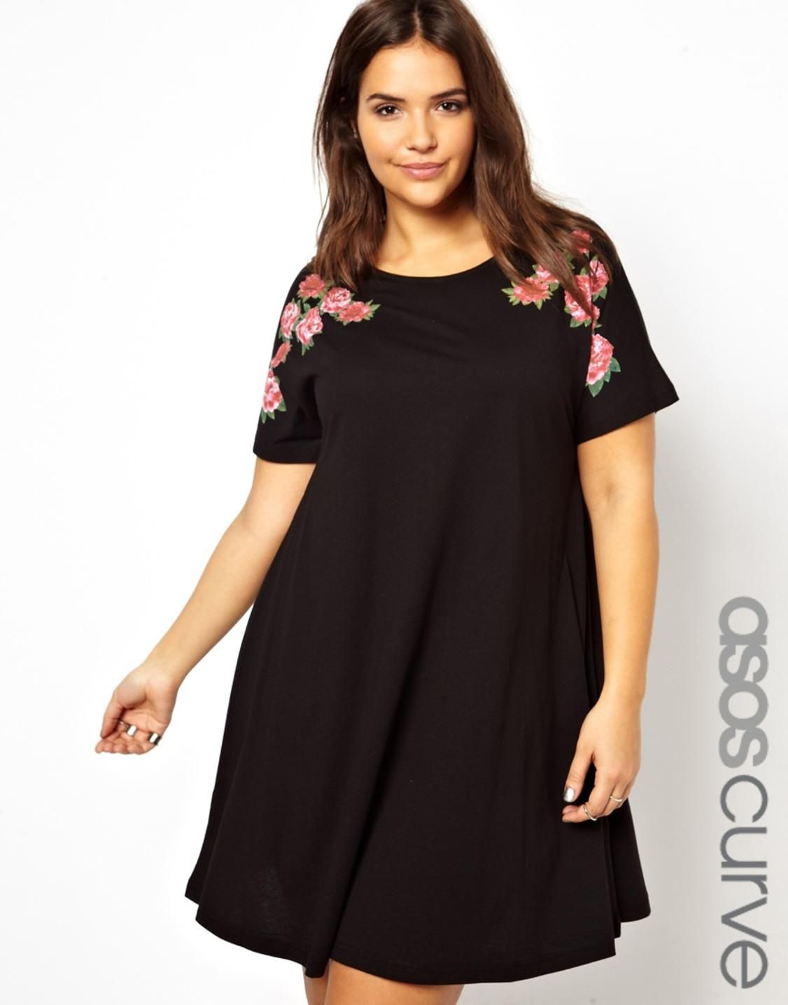 Black plus size swing dress   I would love to have this top ...