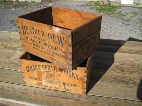 Antique Wooden Whiskey Boxes C 1920 S 40 S Wooden Whiskey Boxes Wooden Antiques
