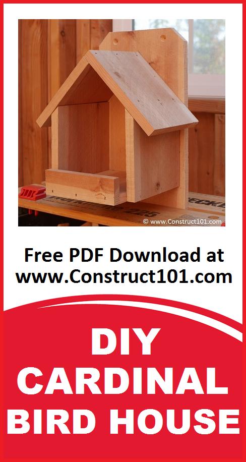 DIY Cardinal Bird House