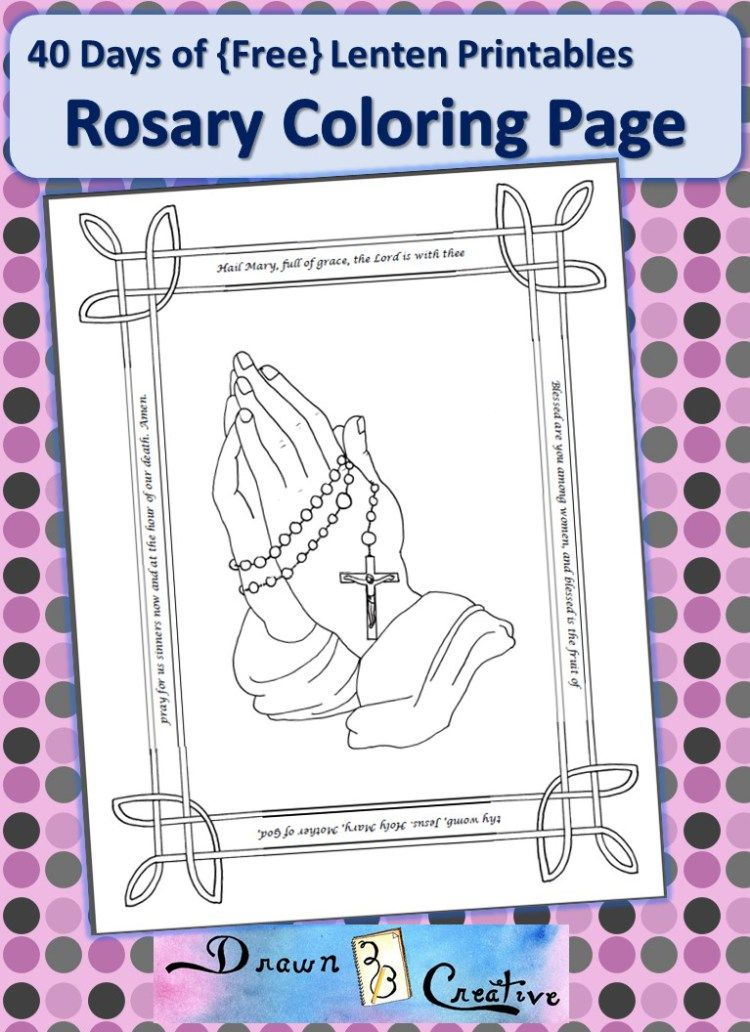 Rosary Coloring Page Ccd Rosary Catholic Coloring Pages Color