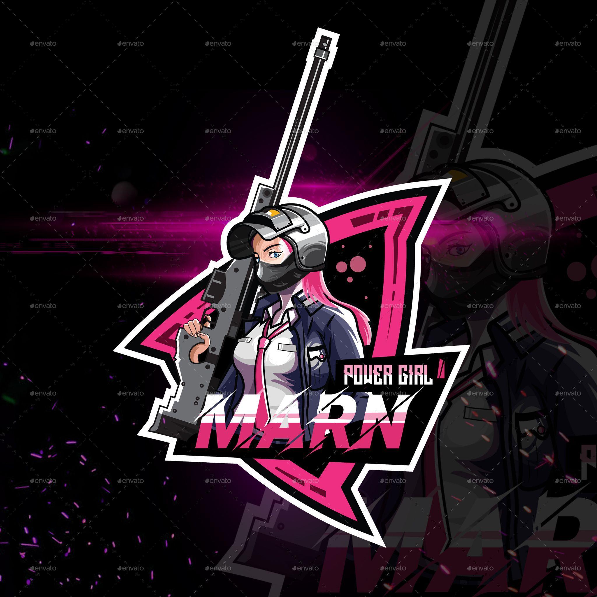 Girl Sniper Logo For Gaming in 2020 Sniper, Logo