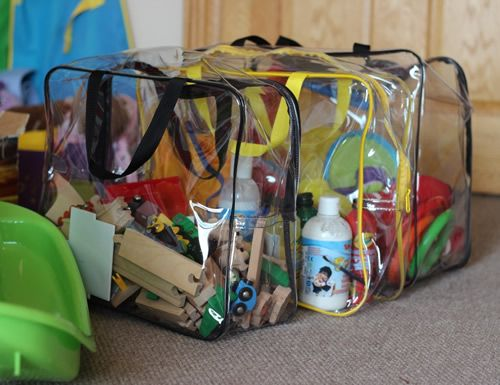 Clear Toy Storage Bag At Sy Plastic With Zip Fastening And Handles Ideal For Storing