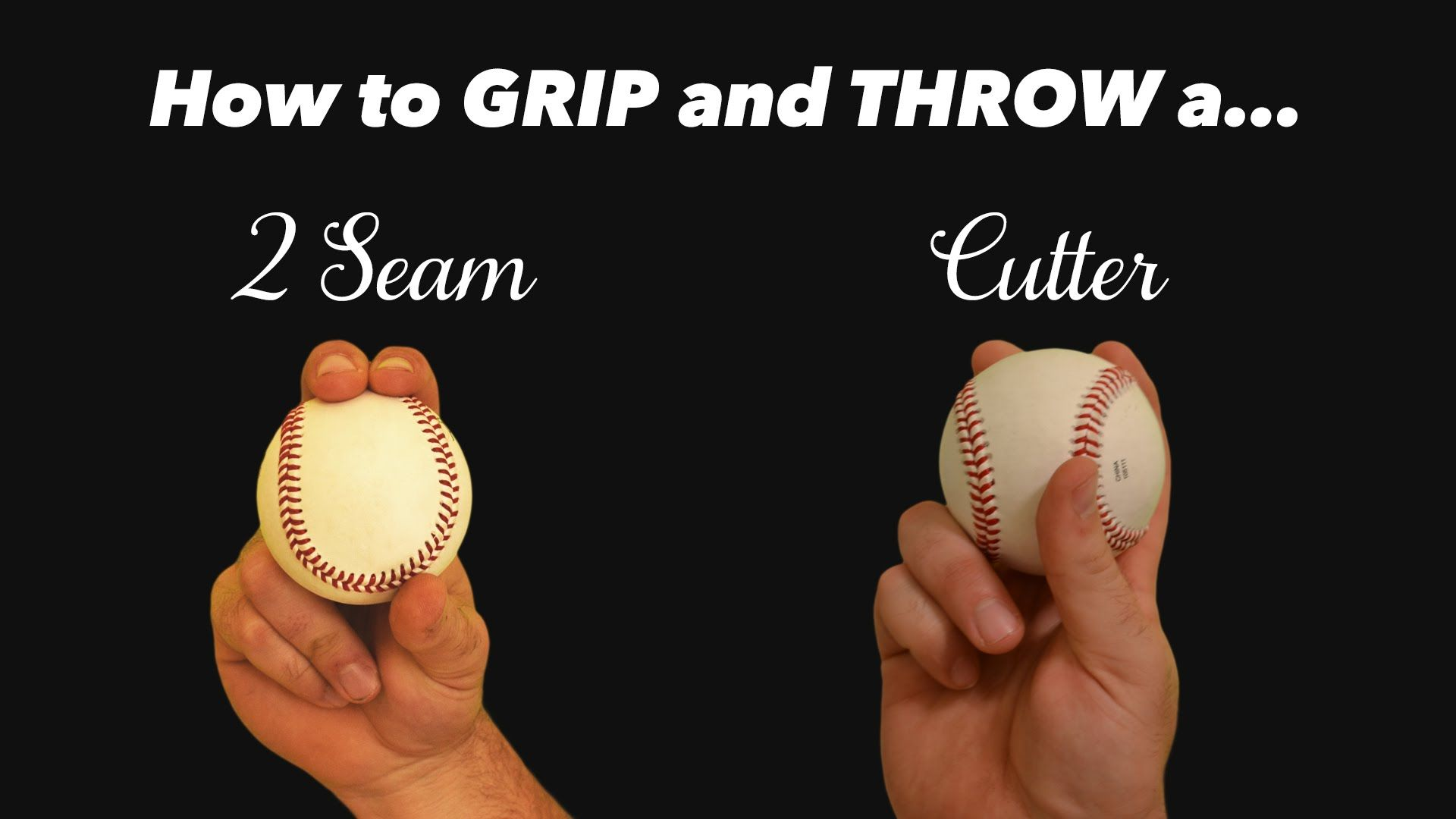 Baseball Grips For Pitching How To Throw A Cutter And 2 Seam Youtube Baseball Drills Baseball Scores Baseball Pitching