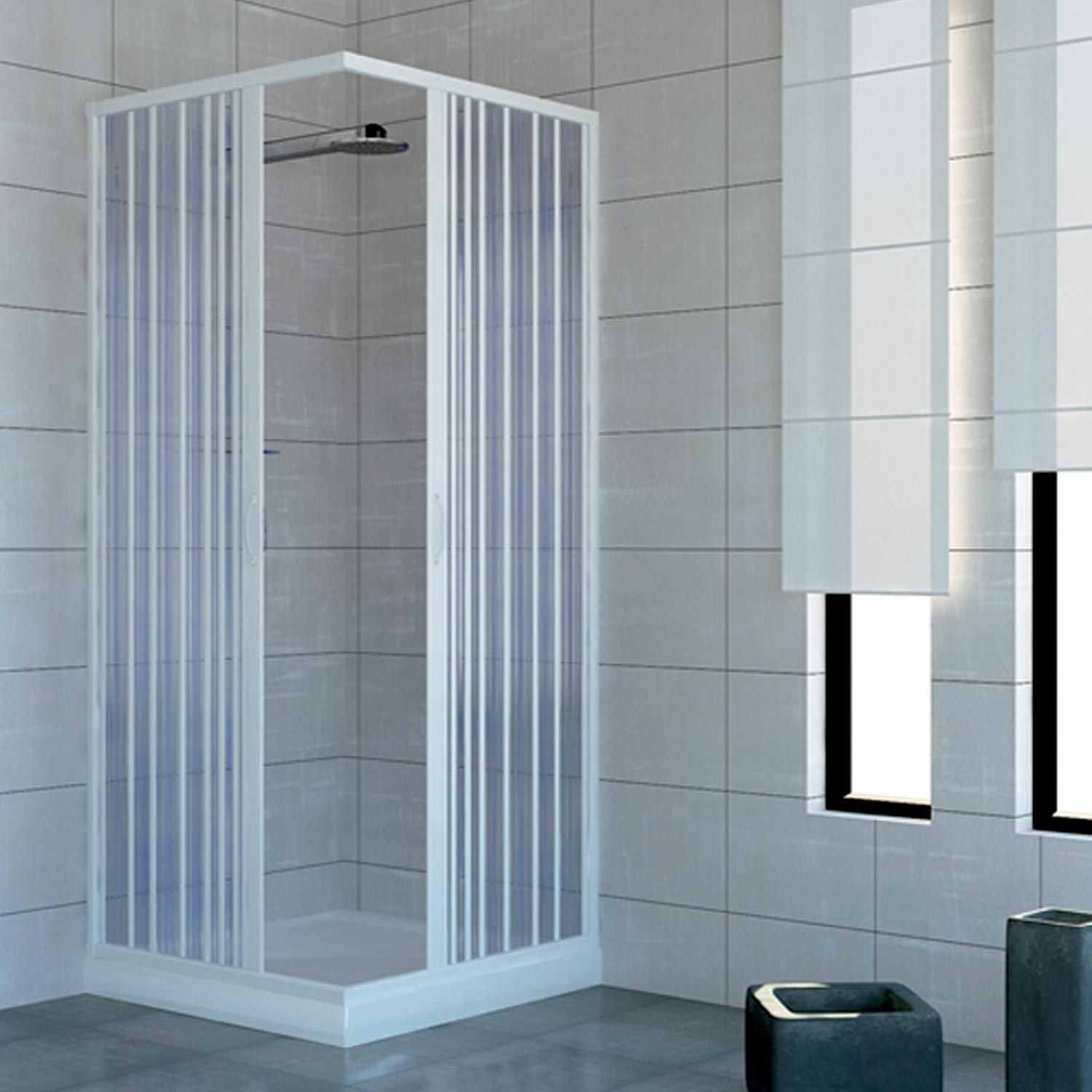 plastic accordion shower doors