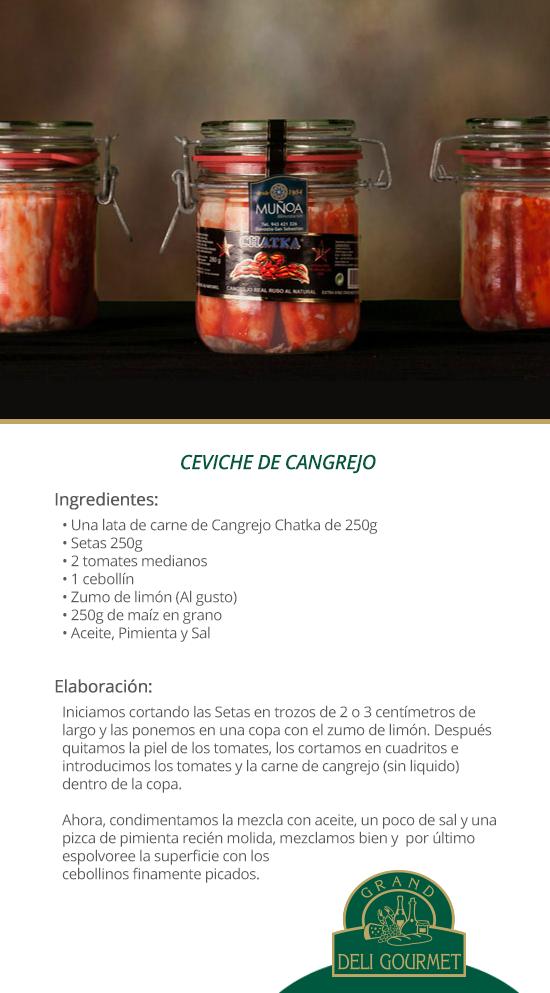 Ceviche de Cangrejo Chatka