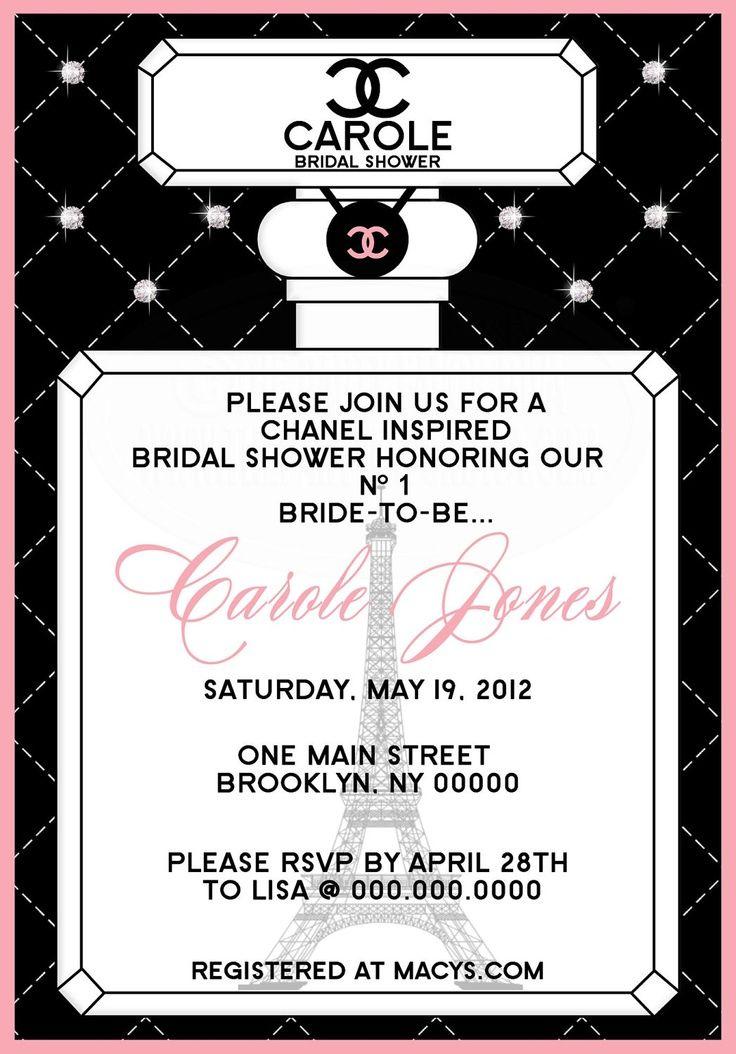 Chanel Invitation Wording