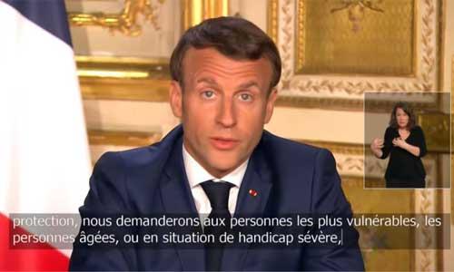 Discours de Macron les personnes handicapées s
