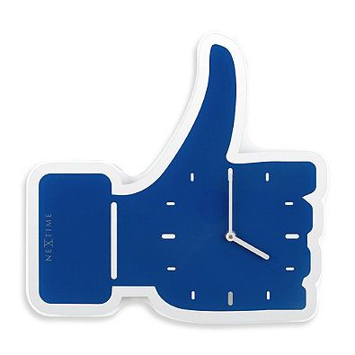 NeXtime Thumbs Up Wall Clock in Blue 250.000