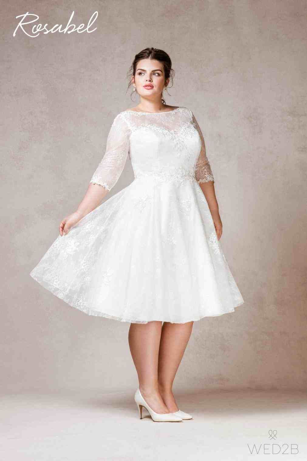 vintage plus size tea length wedding dresses | Weddings | Wedding ...
