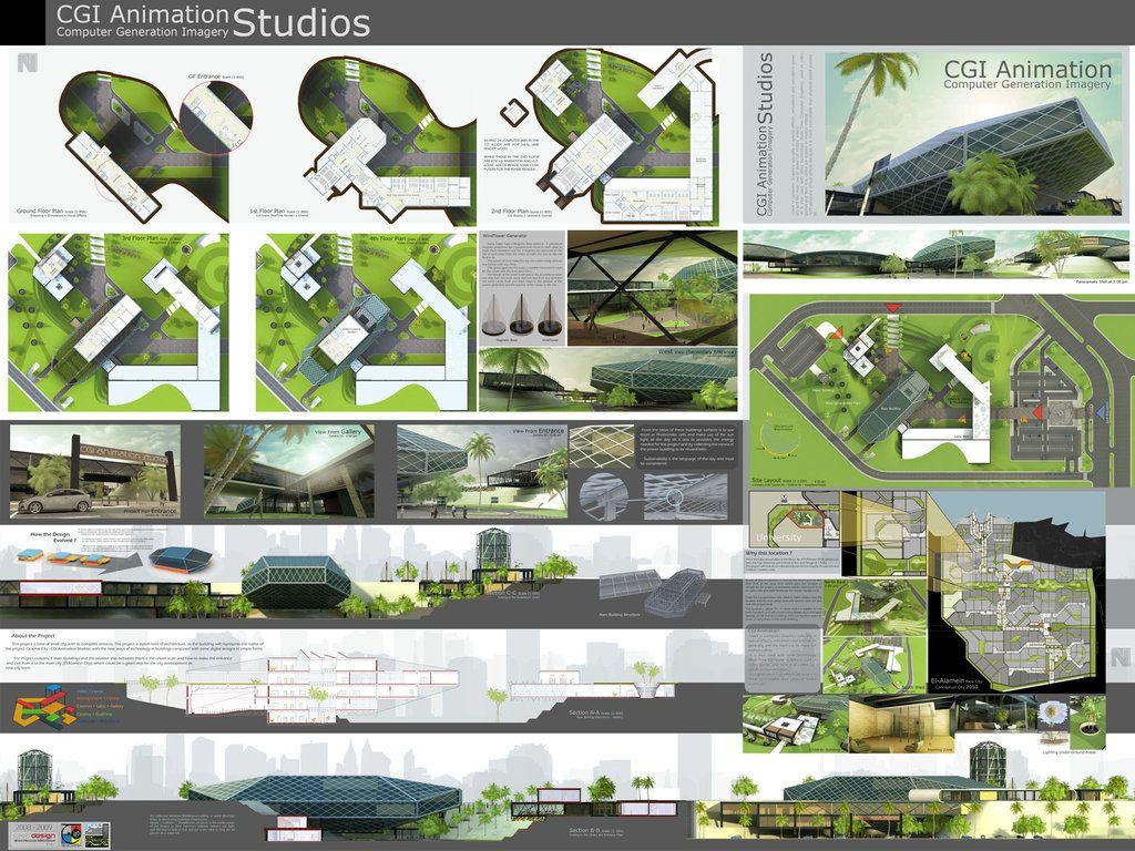Presentation by on deviantart for Architectural design concept sheet