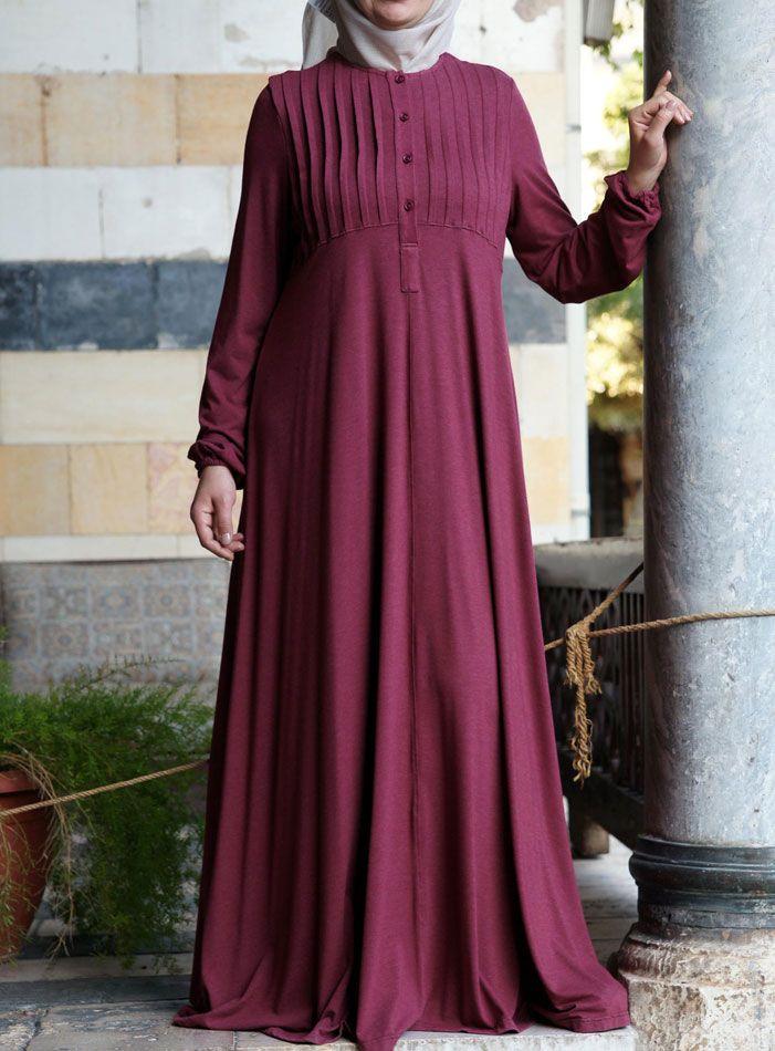 Shukr Abaya With Tucks Uk Elegant