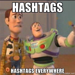 448bc35e9bd7787527dd4a51201850d1 hashtags everywhere social media fun pinterest hashtag