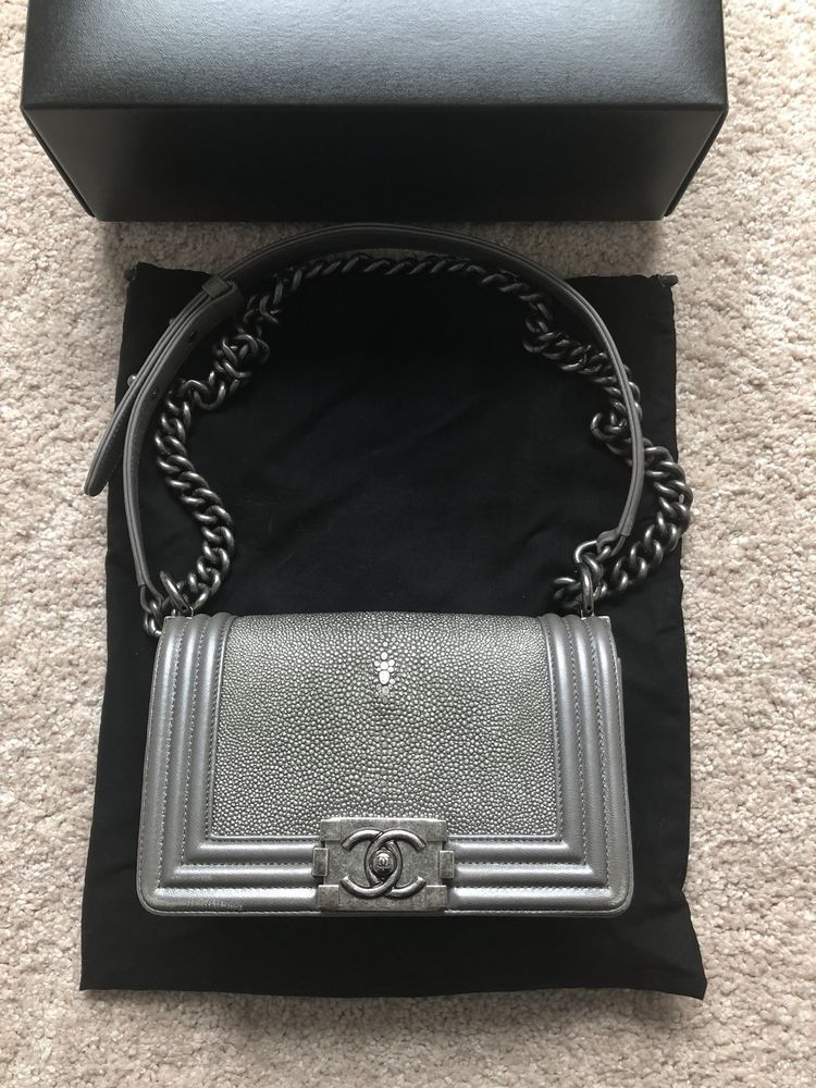Chanel Small Le Boy Bag Stingray Special Edition Rare  fashion  clothing   shoes  accessories  womensbagshandbags (ebay link) 2128866ce