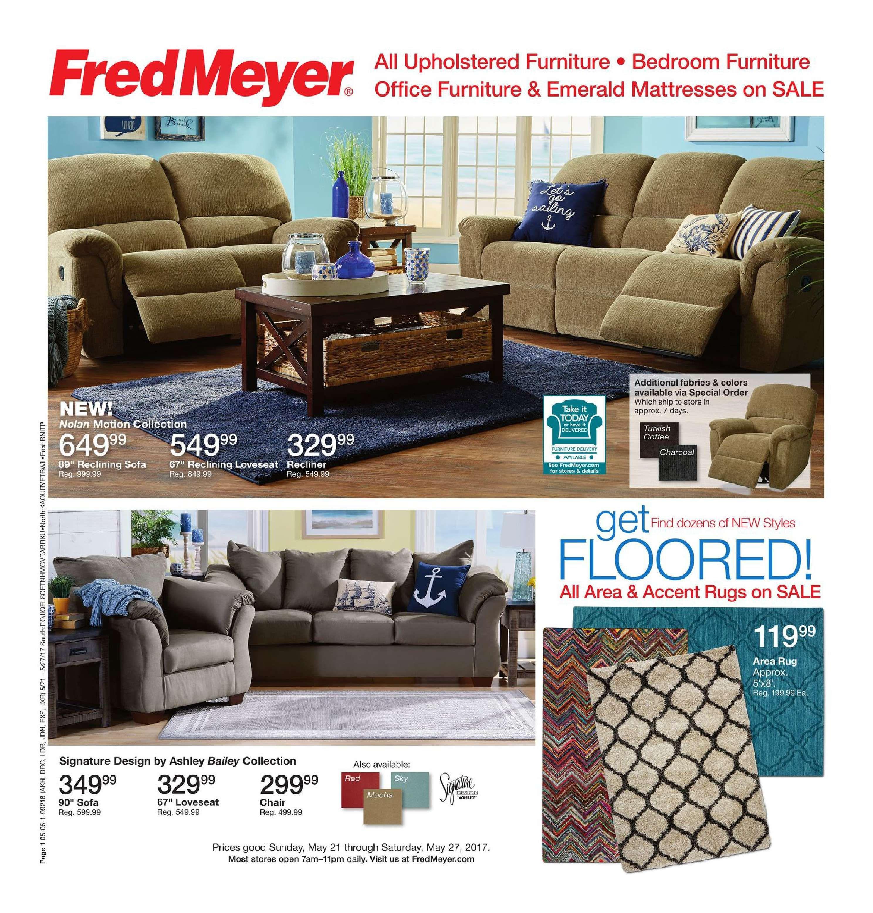 Fred Meyer Furniture Ad May 21 27 2017 atalog