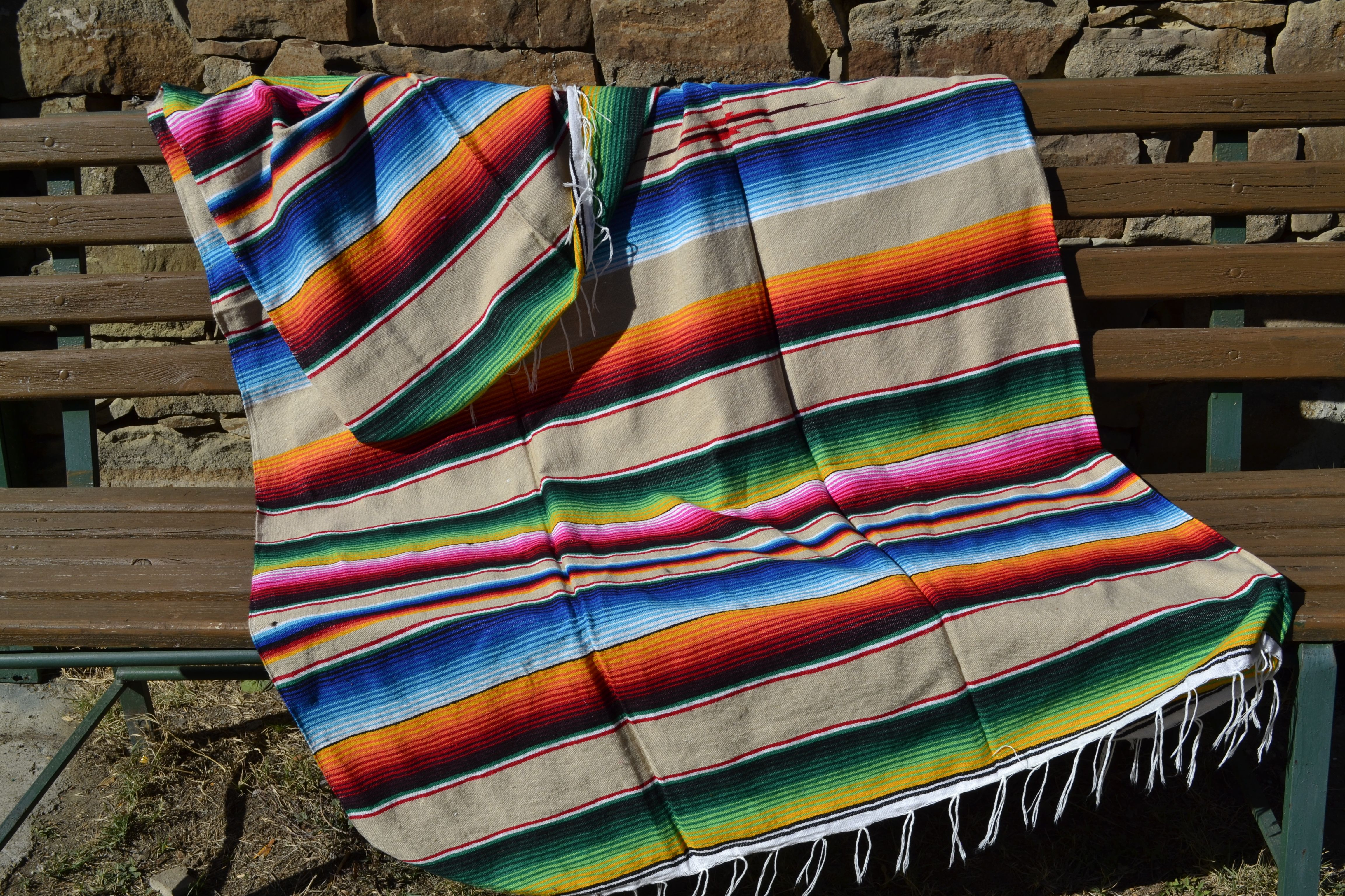 Mexikanische Decke Couverture Mexicaine Mexican Blanket Throw