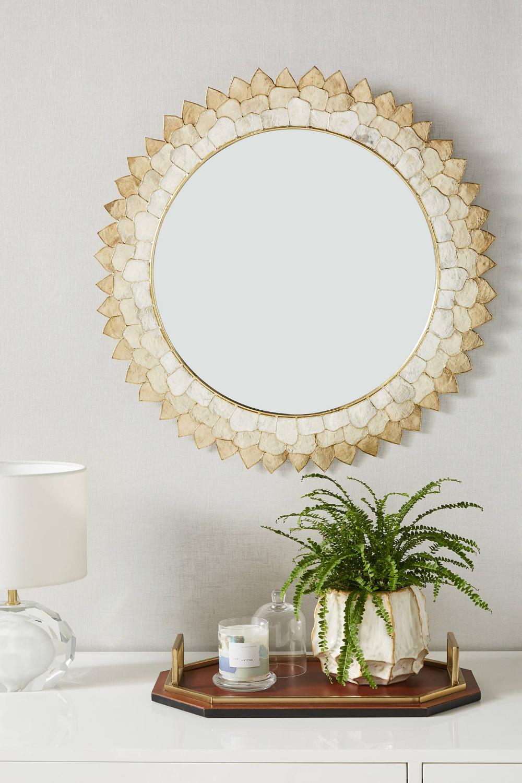Penny Ombre Capiz Mirror In 2020 Mirror Vintage Mirrors Spring