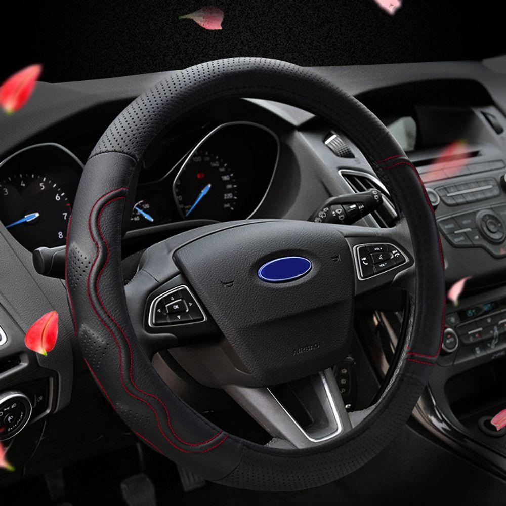 For Ford Focus 2 Mk2 Mk3 Mondeo Fiesta Car Steering Wheel Cover