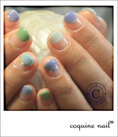 coquine nail* フラッグネイル。