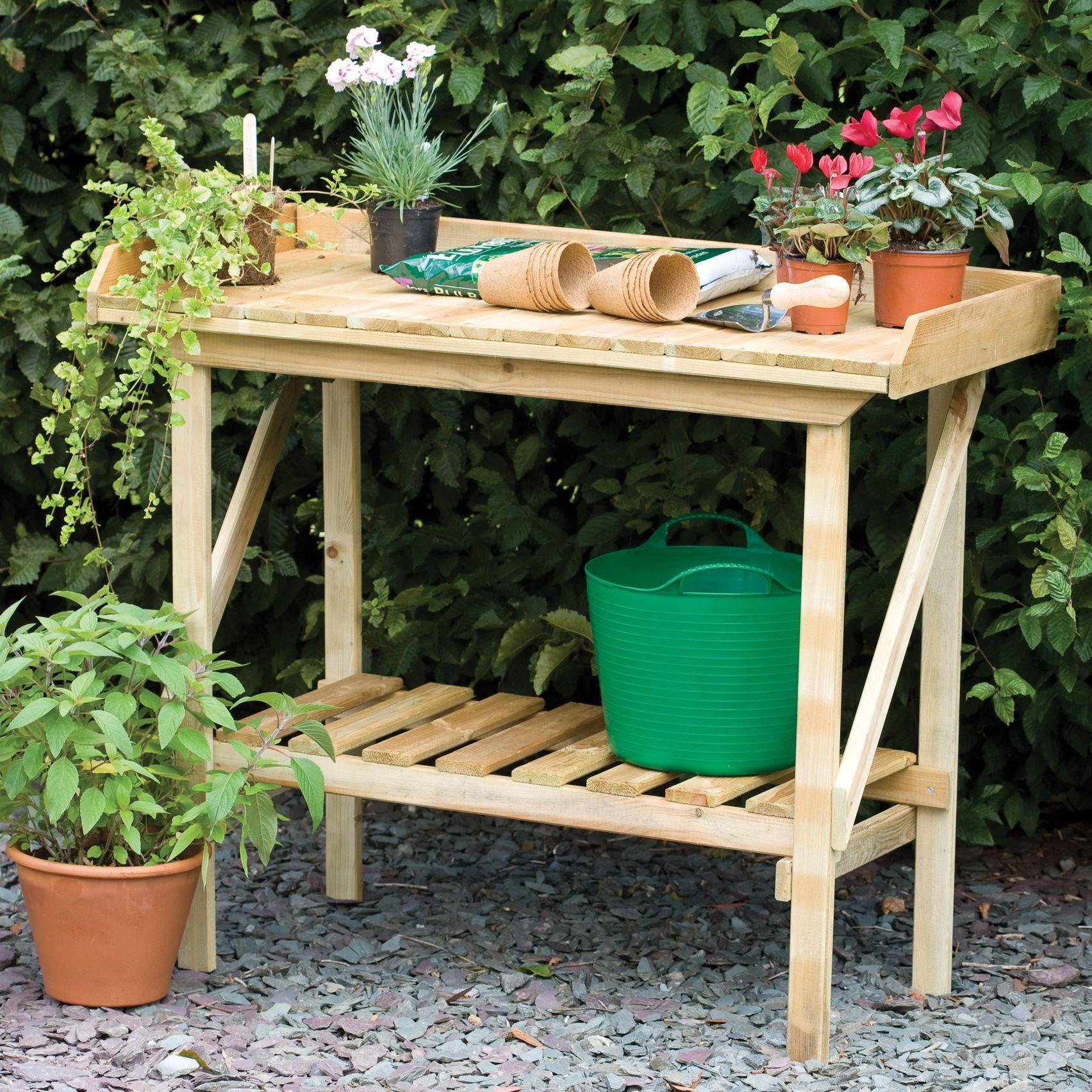 Blooma Softwood Potting Bench | Departments | DIY At Bu0026Q