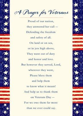 Prayer for Veterans #veteransdaydecorations