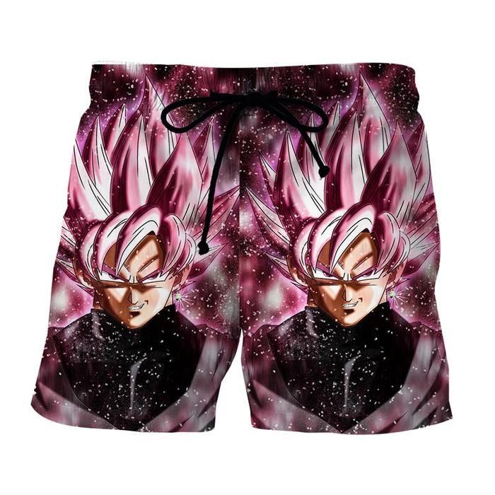 c88aff0bfcad1 Dragon Ball Z Super Saiyan Goku Black Rose Pink Boardshorts #shorts # boardshorts #dragonball