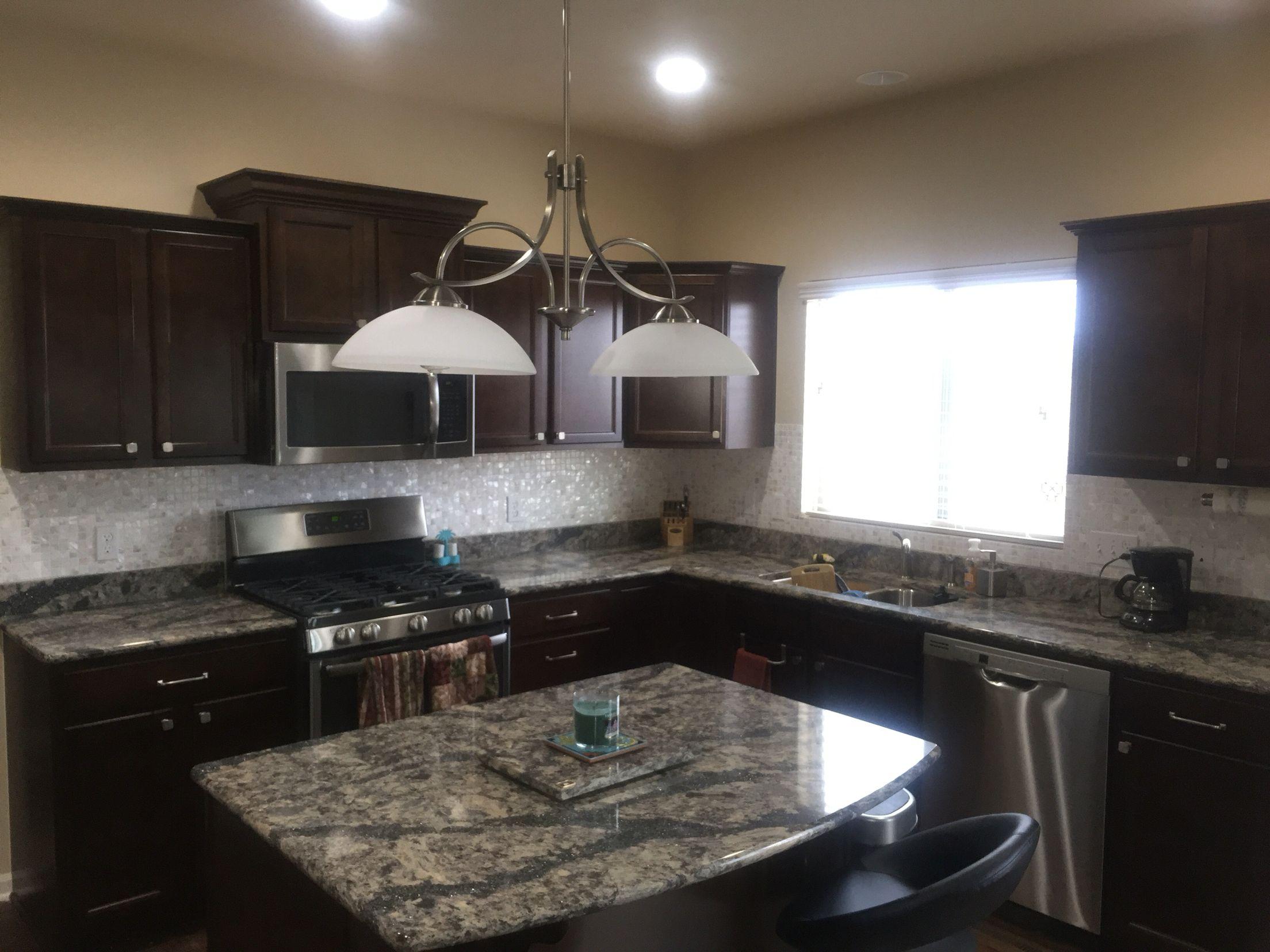Modern kitchen: Dark cabinets, dark quartz countertops ... on Backsplash Ideas For Dark Cabinets And Dark Countertops  id=50532