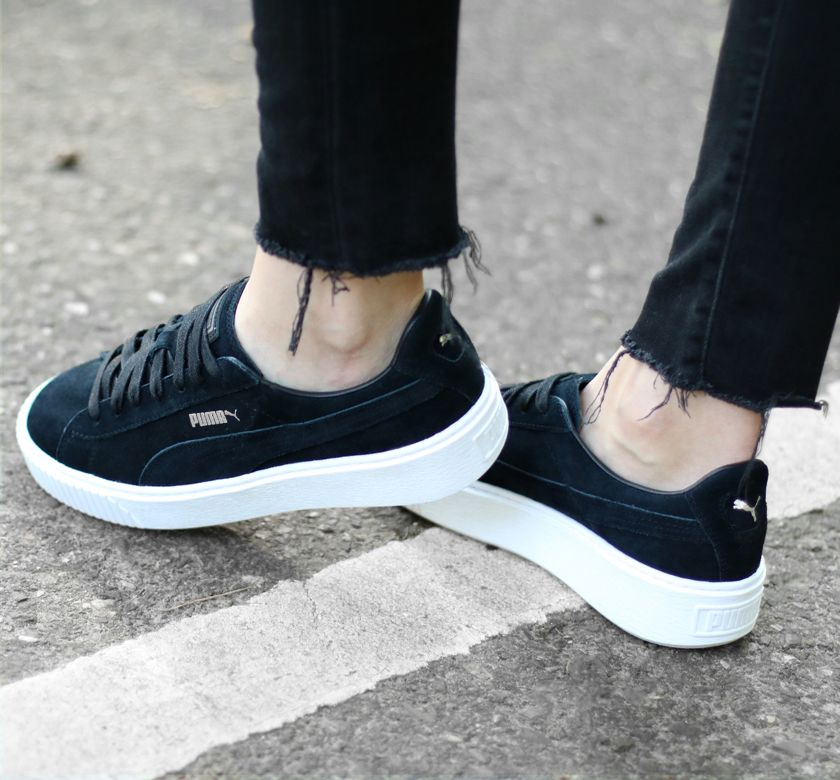 puma basket platform core black