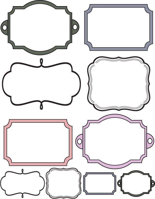 Simplicity image inside free printable frames