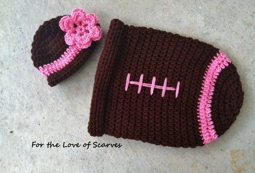 Crochet Football Cocoon Photo Prop For Girl Ftlos Crochet On