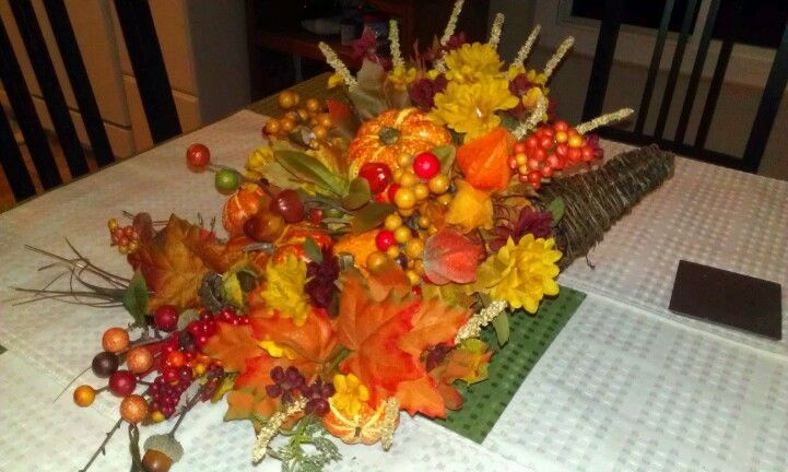 Center piece for the fall holidays. I made this for twenty bucks at Michael's.