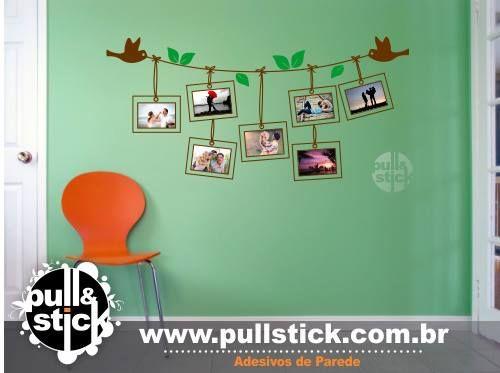 Mural de Fotos feito na parede!
