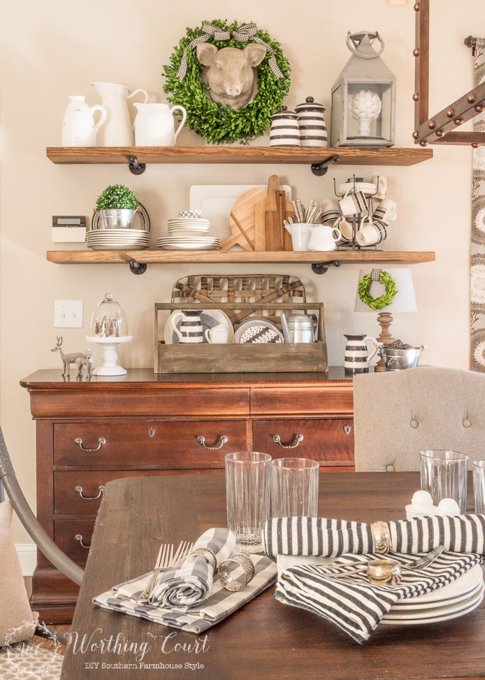 Rustic Farmhouse Breakfast Area Reveal