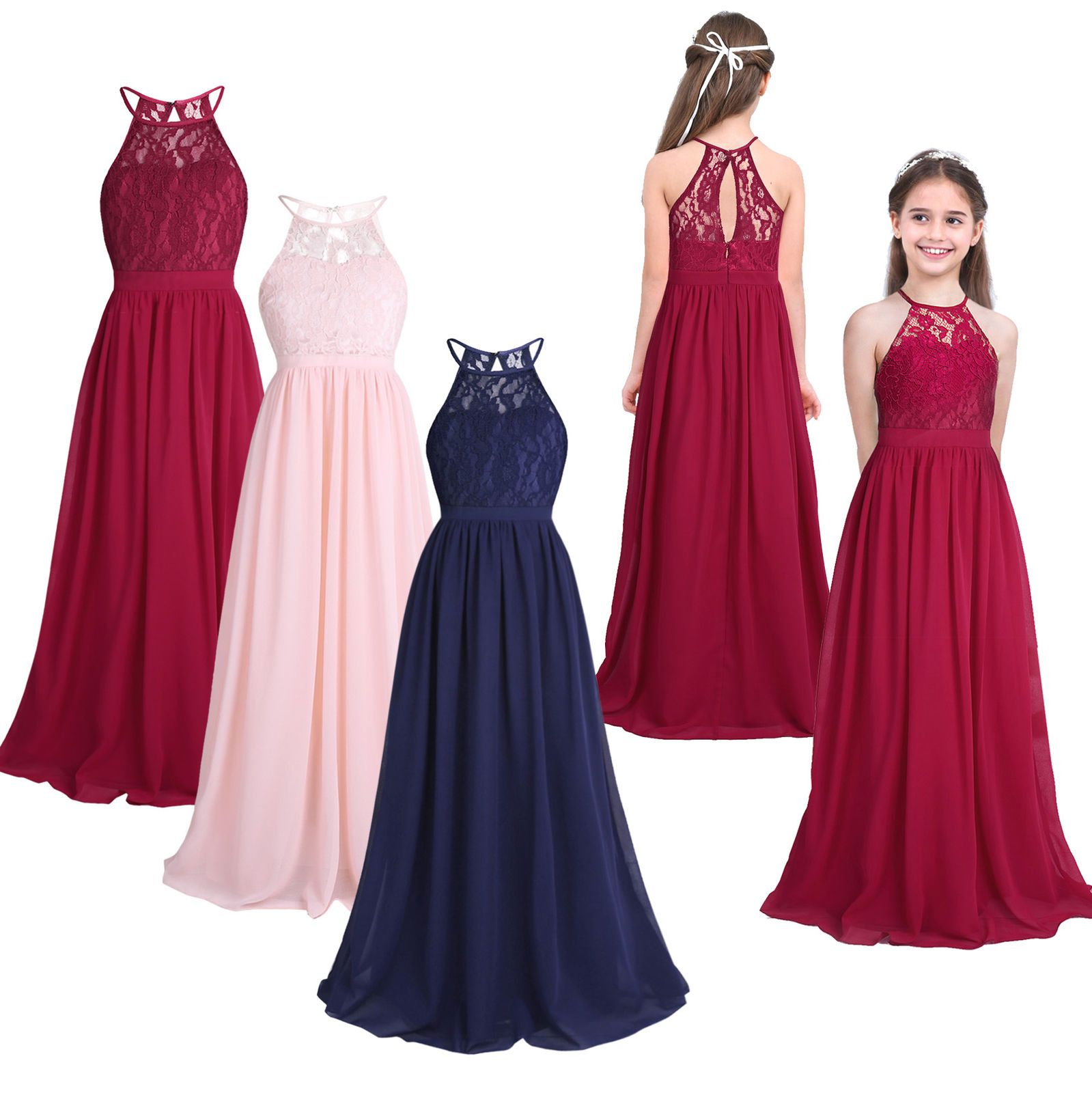 Kids girls communion party princess occasion gown prom wedding