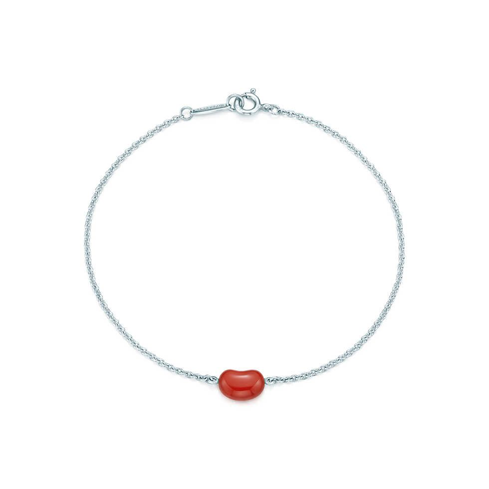 69442081e Elsa Peretti® Bean® bracelet in sterling silver with red jasper. | Tiffany  & Co. A bean for each of my beans.