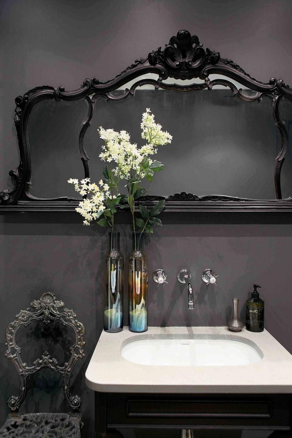 pinelizabeth garland on furniture | gothic bathroom