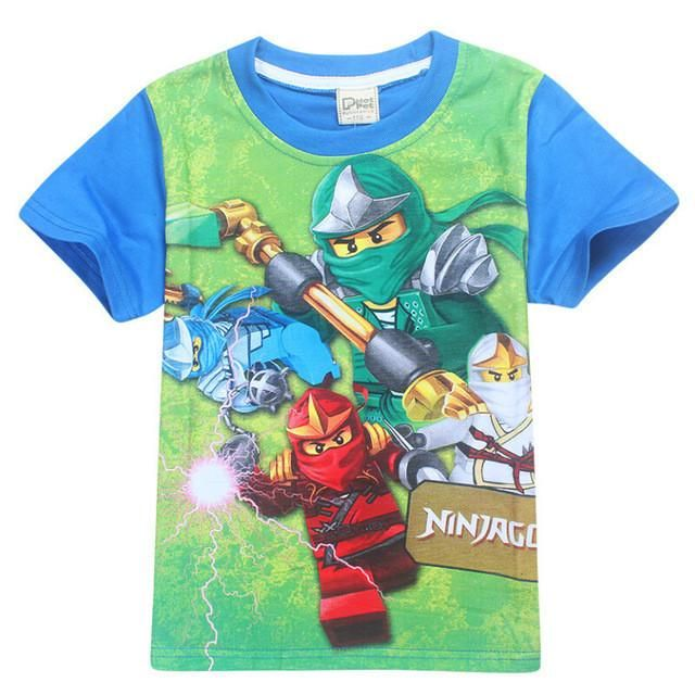 Boys Ninja Turtles Short Sleeve T-shirt New Design 2017 Size 3-8 Years